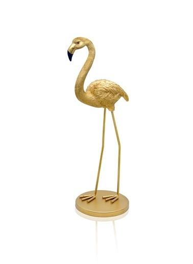 The Mia Biblo - Flamingo Gold Büyük 10x9x28 Cm Altın